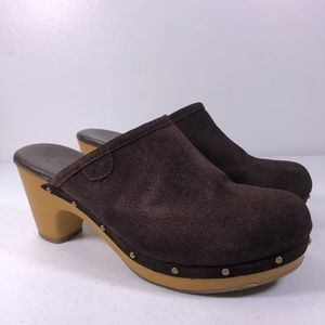 American Eagle Slip On Suede Clog Mule Shoes